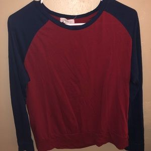 Forever 21 red and blue baseball tee